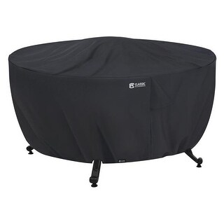 Classic Accessories Fire Pit Table Cover - Round, Black