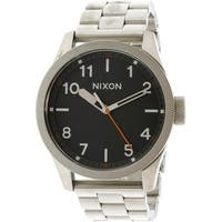 Nixon Men's Safari  Silver Stainless-Steel Quartz Fashion Watch