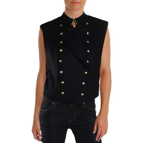 Free People Womens Vest Wool Blend Military