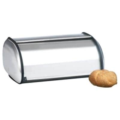 Anchor Hocking Euro Design Brushed Steel Bread Box