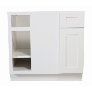 """Design House 561522 Brookings 36"""" Wide x 34-1/2"""" High Kitchen Blind Corner Base Cabinet with Single Door - White"""