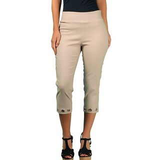 ALLY NYC Women's Techno Thin Grommets Capri (More options available)