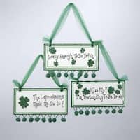 "Luck of the Irish ""Lucky Enough To Be Irish"" Plaque Christmas Ornament - green"