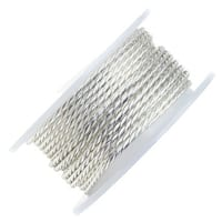 Artistic Wire, Twisted Craft Wire 18 Gauge Thick, 2 Yard Spool, Tarnish Resistant Silver