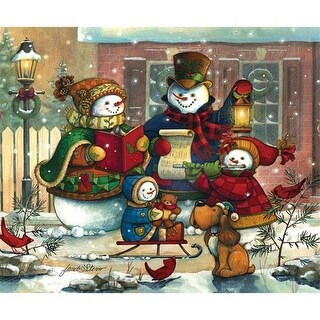 Outset Media Games OM54583 Snowman Family 400 Piece Puzzle