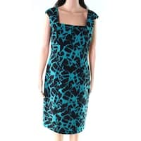 Calvin Klein Jade Black Women's Printed Sheath Dress