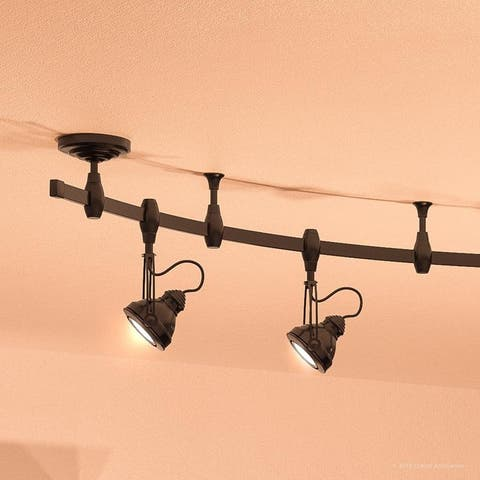 "Luxury Modern Track Light, 11.5""H x 108""W, with Industrial Style, Estate Bronze Finish by Urban Ambiance"