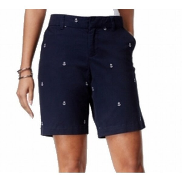48cbdcadbcdbd5 Shop Tommy Hilfiger NEW Blue Women s Size 6 Bermuda Walking Anchor Shorts - Free  Shipping On Orders Over  45 - Overstock - 18373698