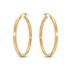 "MCS JEWELRY INC 10 KARAT YELLOW GOLD HOOP EARRINGS (2.8"" DIAMETER)"