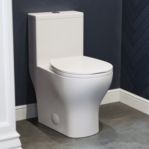 "Sublime II Compact 24"" Length Two Piece Toilet Dual Flush 0.8/1.28 GPF"