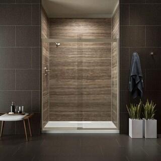 "Kohler K-706009-L Levity 60"" Clear Sliding Shower Door with Grab Bars and CleanCoat Technology"
