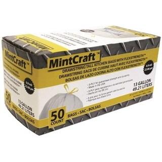 Mintcraft FG-O3812-04 Drawstring Tall Kitchen Bags, 13 Gallon