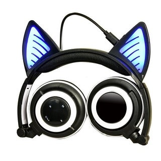K10 Cat Ear Bluetooth LED Headphones Music Hands-Free Calls,