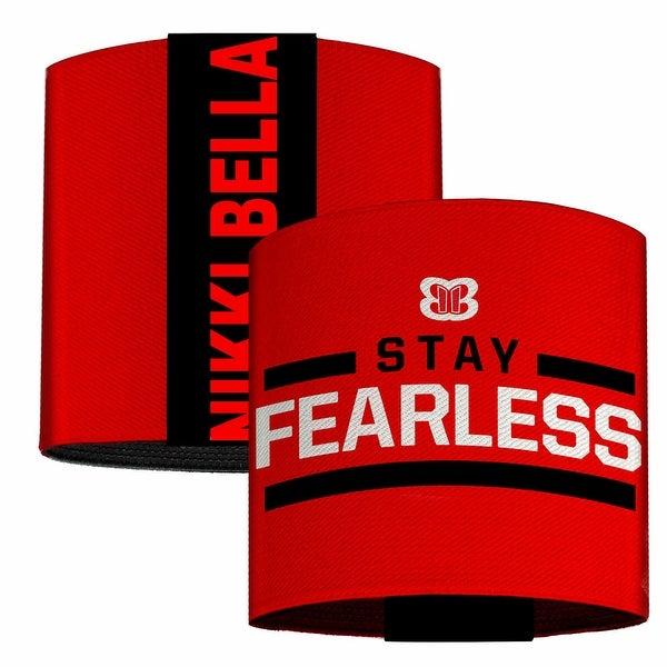 Nikki Bella Stay Fearless Badge Red Black White Elastic Wrist Cuff