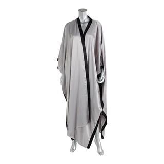 Natori Womens Satin Batwing Sleeves Long Robe - L