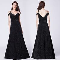 Ever-Pretty Women's Cold Shoulder Velvet Glitter Formal Evening Party Dress 07395