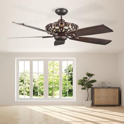 Aracruz Indoor LED Ceiling Fan, Oil Rubbed Bronze - Oil Rubbed Bronze