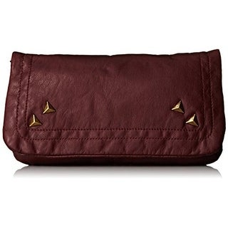Twig & Arrow Womens Shoulder Handbag Faux Leather Studded - Burgundy - small