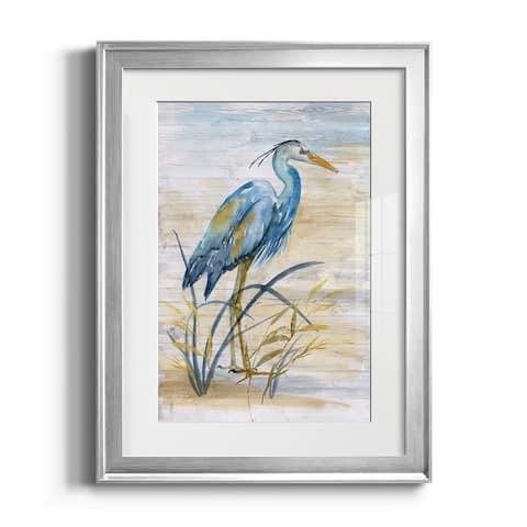 Blue Heron I Premium Framed Print - Ready to Hang