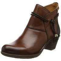 Pikolinos Womens Rotterdam Strap 902-8775 Leather Almond Toe Ankle Cowboy Boots - 5