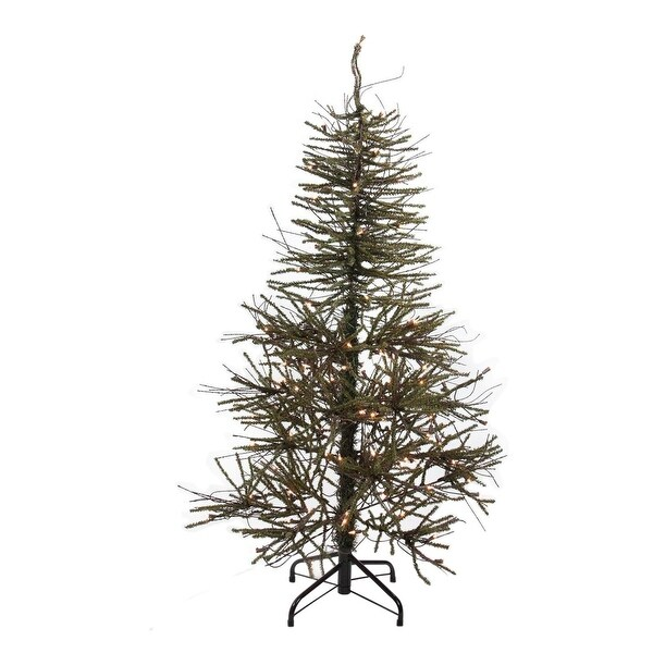 4' Warsaw Twig Artificial Christmas Tree - Clear Lights - brown