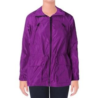 Lauren Ralph Lauren Womens Anorak Jacket Drawstring Waist Long Sleeves