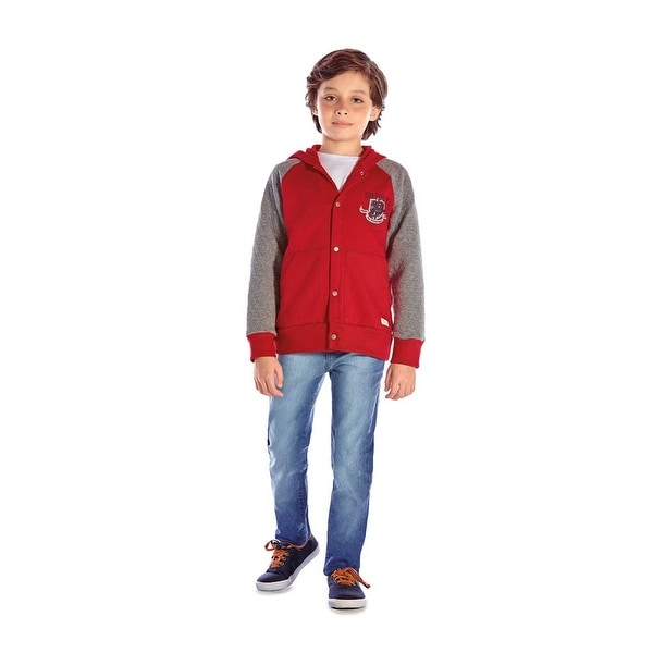 Boys Hoodie Jacket Button-Up Kids Winter Clothing Pulla Bulla 2-6 Years