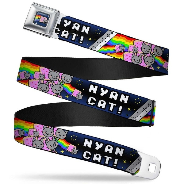Nyan Cat Blue Full Color Nyan Cat! Explosion Stars Webbing Seatbelt Belt Seatbelt Belt