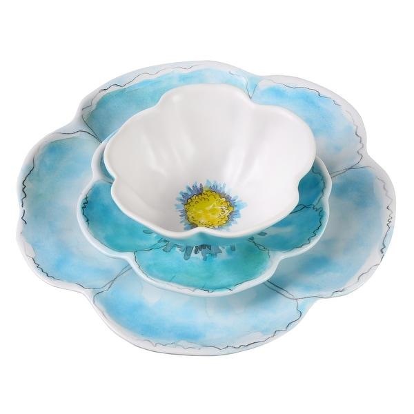Merritt International Sculpted Flower Petal Dinnerware - Unbreakable Melamine Indoor/Outdoor Dishes