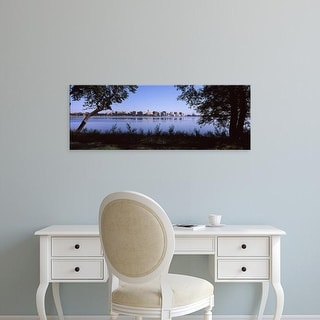 Easy Art Prints Panoramic Images's 'Buildings at waterfront, Lake Monona, Madison, Dane County, Wisconsin' Canvas Art
