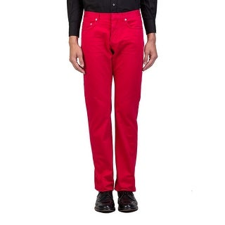 Dior Homme Men's Straight Fit Jeans Pants Red - 33