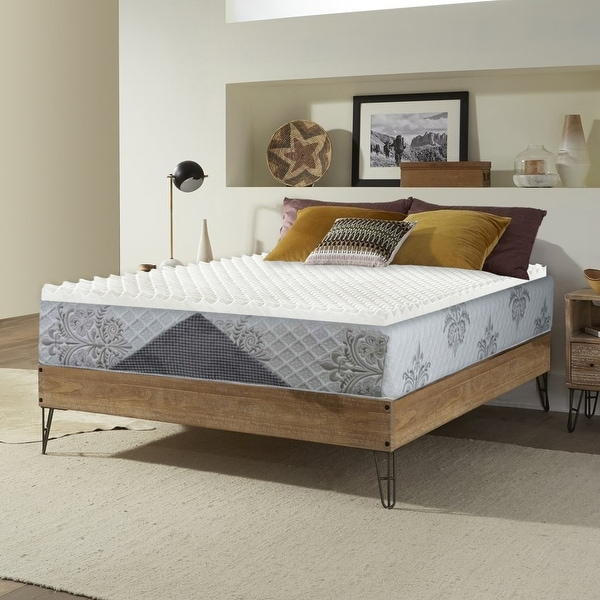 Onetan, Convoluted Egg Shell Breathable Foam Topper,Adds Comfort to Mattress. Opens flyout.