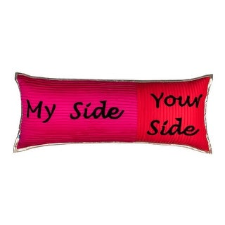Casual Embroidered Quote Decorative Textured Handmade Throw Pillow Cover
