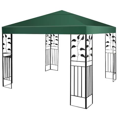 Costway 9.8' x 9.8'Gazebo Top Cover Patio Canopy Replacement 1-Tier 3