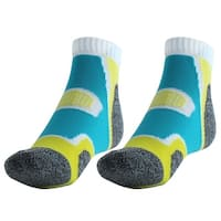 Workout Casual Quarter Athletic Stockings Low Cut Sport Ankle Socks Yellow Pair