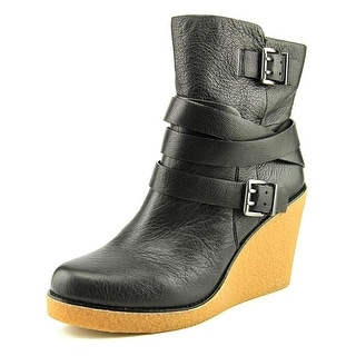 BCBGeneration Finland Round Toe Leather Ankle Boot