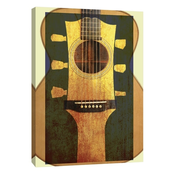 """PTM Images 9-106031 PTM Canvas Collection 10"""" x 8"""" - """"BB Martin 3"""" Giclee Guitars Art Print on Canvas"""