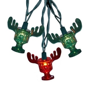National Lampoons Moose Mug Red/Green Light Set 10/L