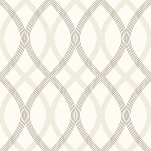 Brewster 2535-20667 Contour Grey Geometric Lattice Wallpaper - N/A