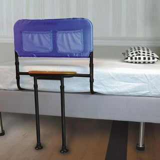 Adjustable Bed Safety Rail with Tray and Storage Pockets
