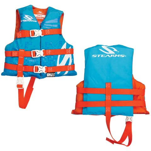 Stearns classic child life jacket 30-50 lbs abstract wave