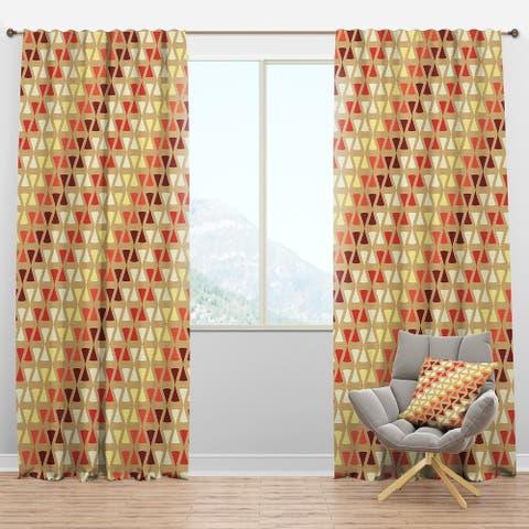 Designart 'Triangular Retro Design IX' Mid-Century Modern Blackout Curtain Panel