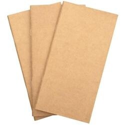 """Kraft W/Bright White Pages - Freckled Fawn Pocket Traveler's Notebook Insert 8.25""""X4.25"""""""
