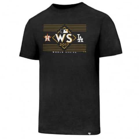 Houston Astros vs LA Dodgers 47 Brand World Series Dueling Tshirt X-Large