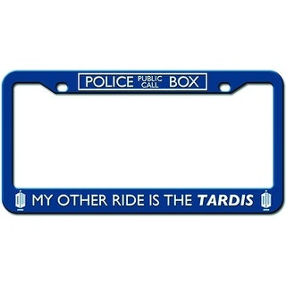 "Doctor Who Licence Plate Frame ""My Other Ride Is The Tardis"""