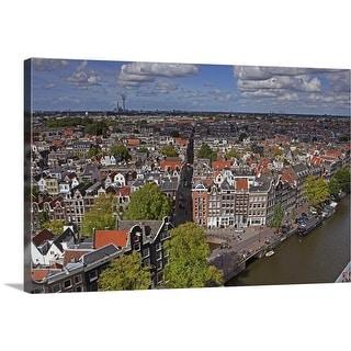 """Cityscape of Amsterdam"" Canvas Wall Art"