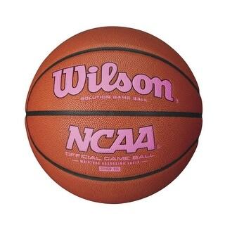 Wilson NCAA Intermediate Size Game Basketball Pink Logo - WTB0701XP