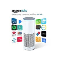 Amazon Echo White Portable bluetooth speaker Mic Wifi Alexa smart home