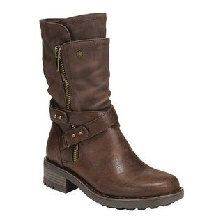 Carlos by Carlos Santana Women's Sawyer Boot Dark Brown Man Made Leather