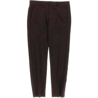 Vince Womens Wool Contrast Piping Dress Pants